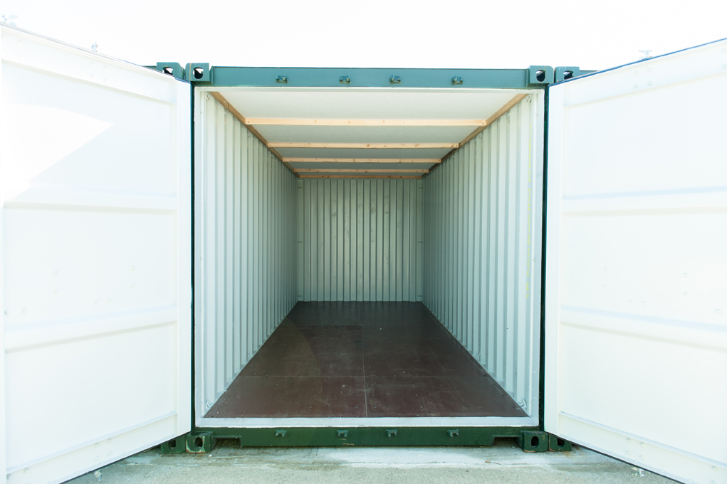 View inside storage container